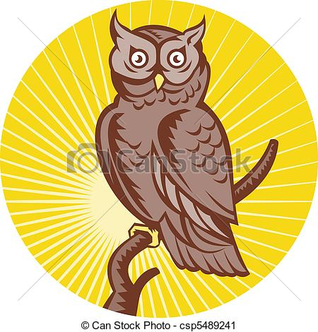 Great horned owl Illustrations and Clipart. 68 Great horned owl.