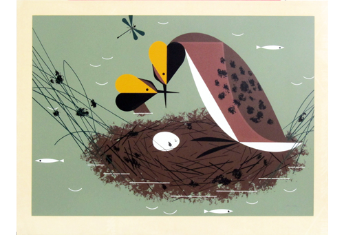 Horned Grebe Serigraph • The Charley Harper Gallery.