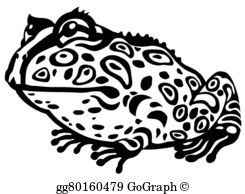 Horned Toad Clip Art.
