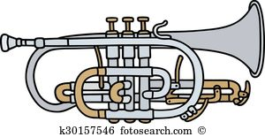 Horner Clip Art and Illustration. 4 horner clipart vector EPS.