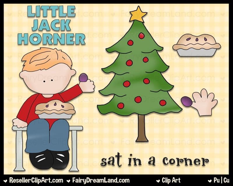 Little Jack Horner Clip Art by Cheryl Seslar.