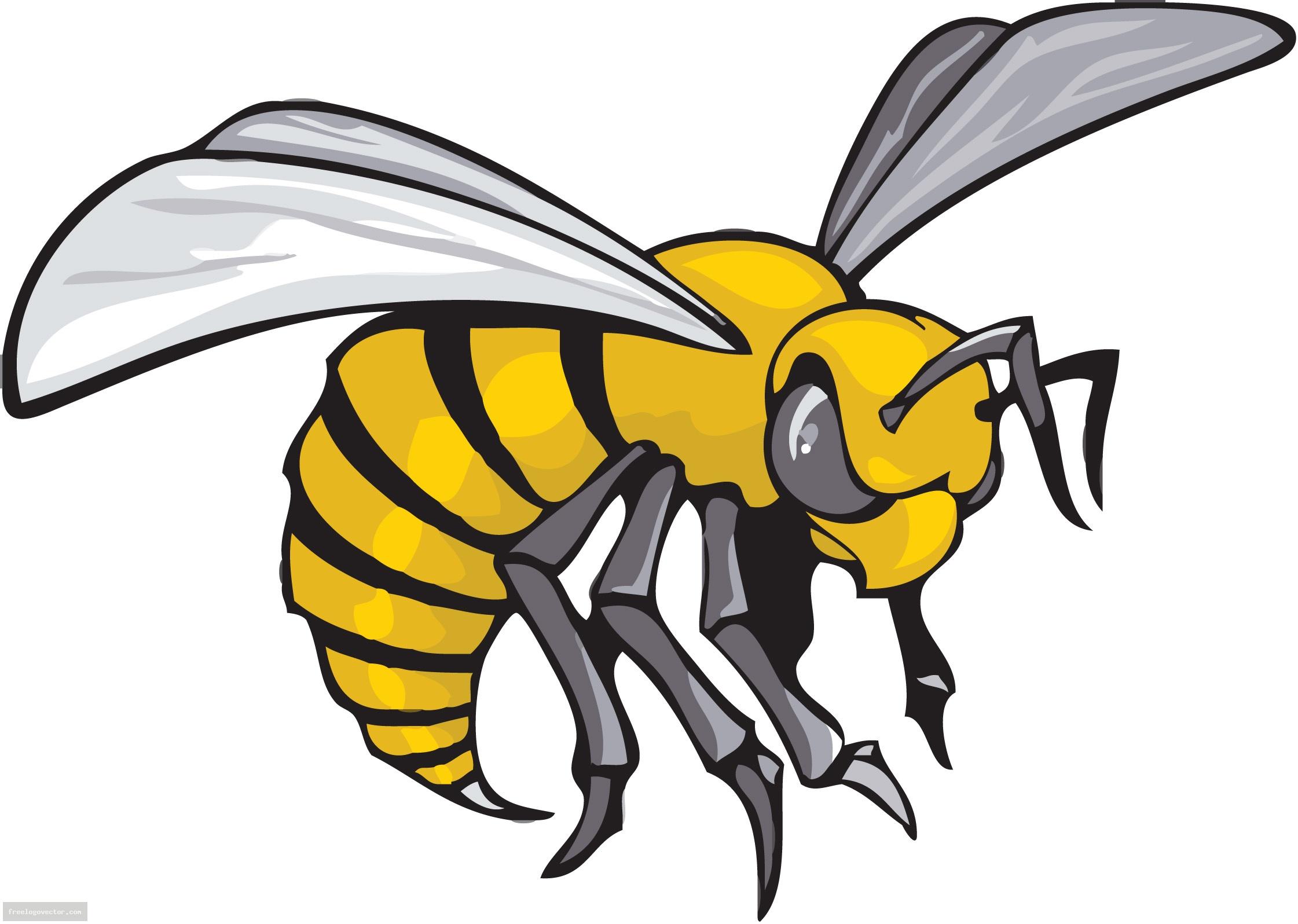 Hornet Mascot Clipart.