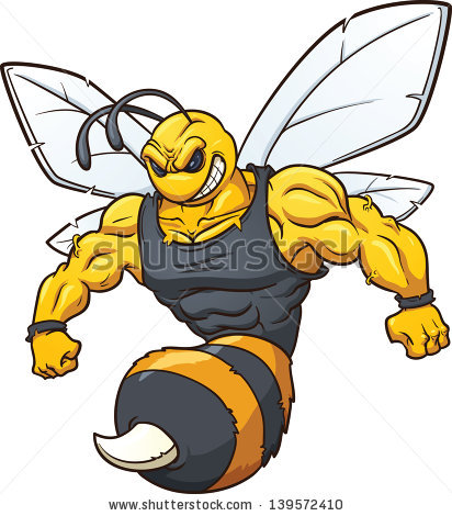 Hornet Mascot Stock Images, Royalty.