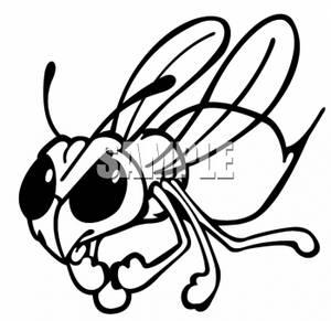 Clipart of a Mean Hornet.