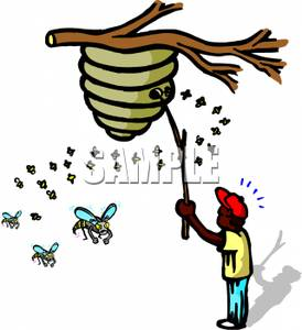 Cartoon Hornet Nest Clipart.