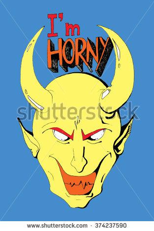 Horny Devil Stock Photos, Royalty.