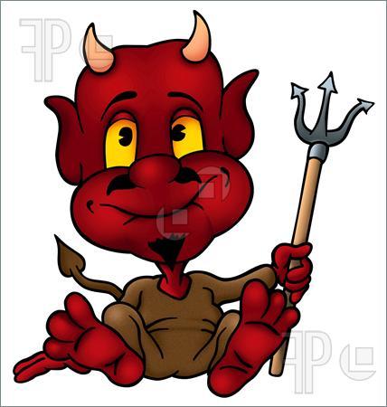 Horny Little Devil Clipart.