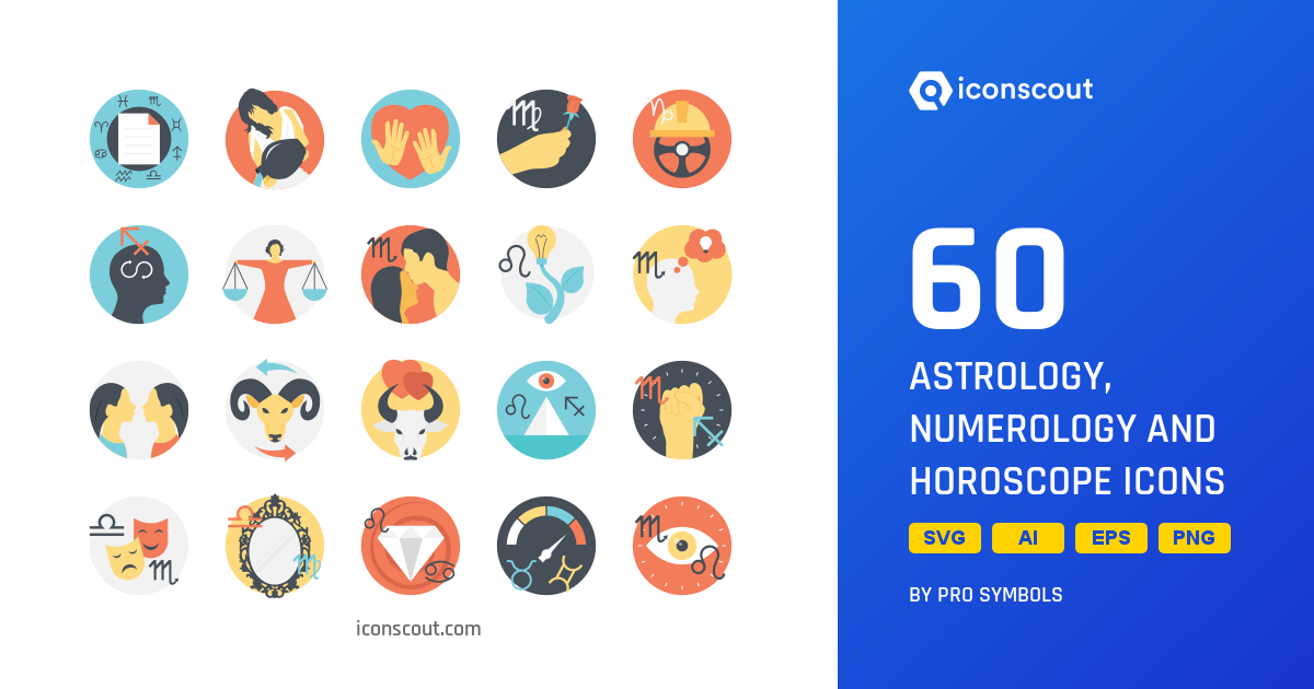 Download Astrology, Numerology And Horoscope Icon pack.