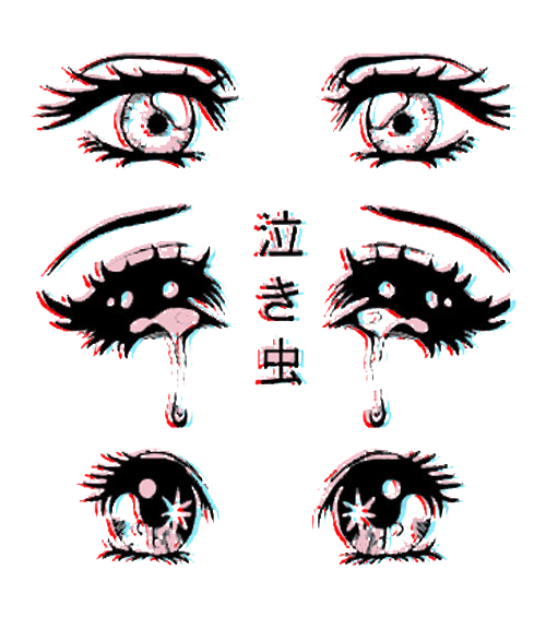 scary drawing cute eyes anime kawaii horror manga pastel.