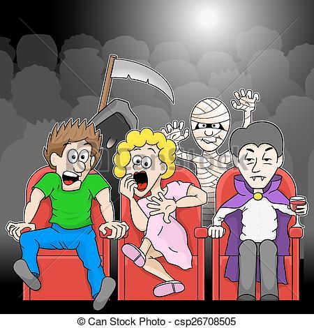 Horror movie Illustrations and Clip Art. 764 Horror movie royalty.