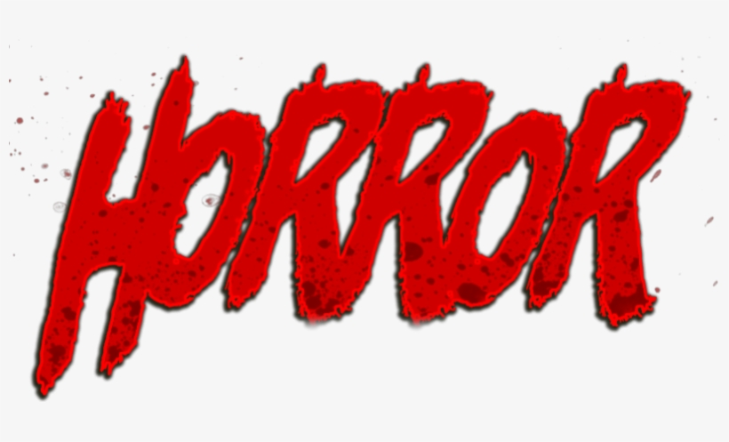 Horror Text Png.