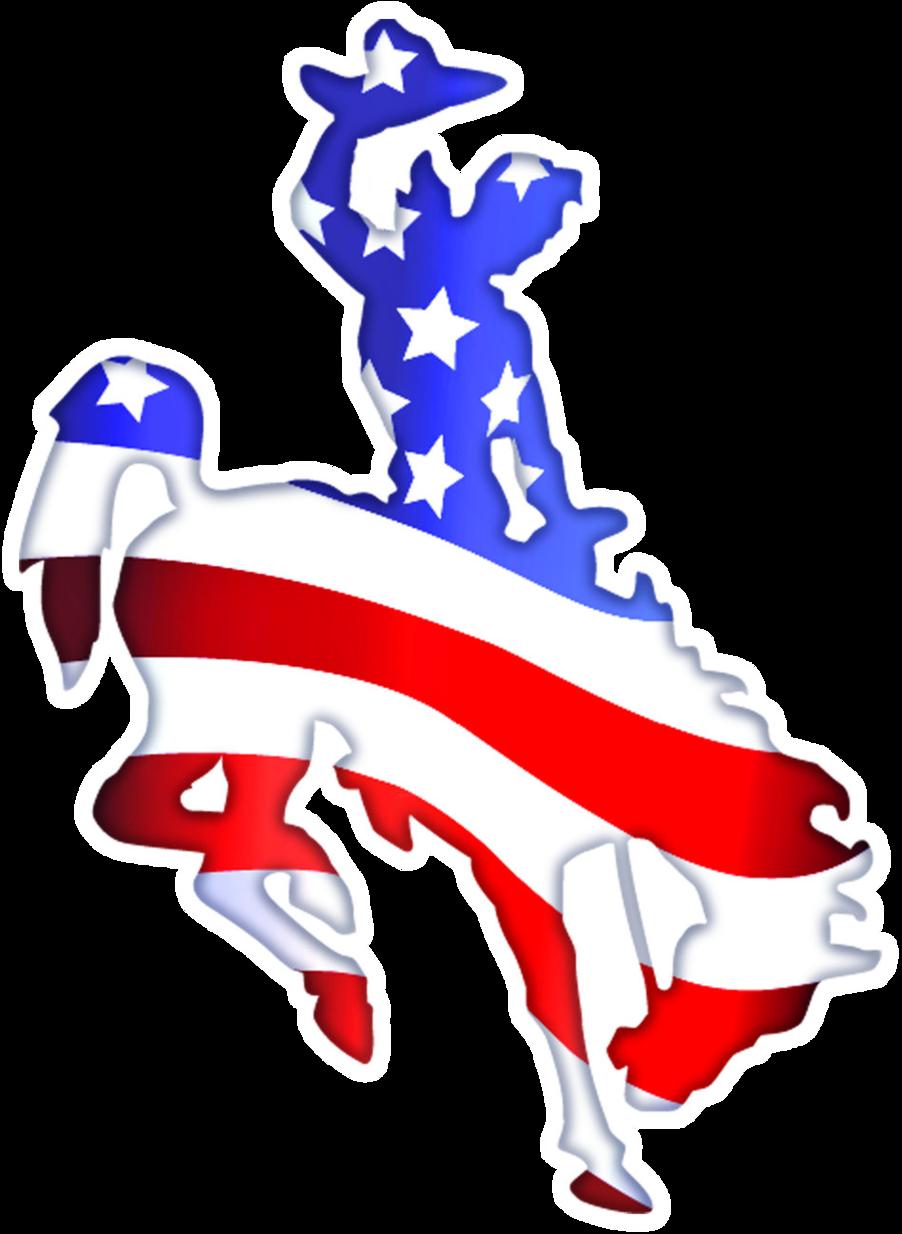 Patriotic Horse Clipart.