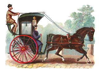 vintage horse and buggy clip art.