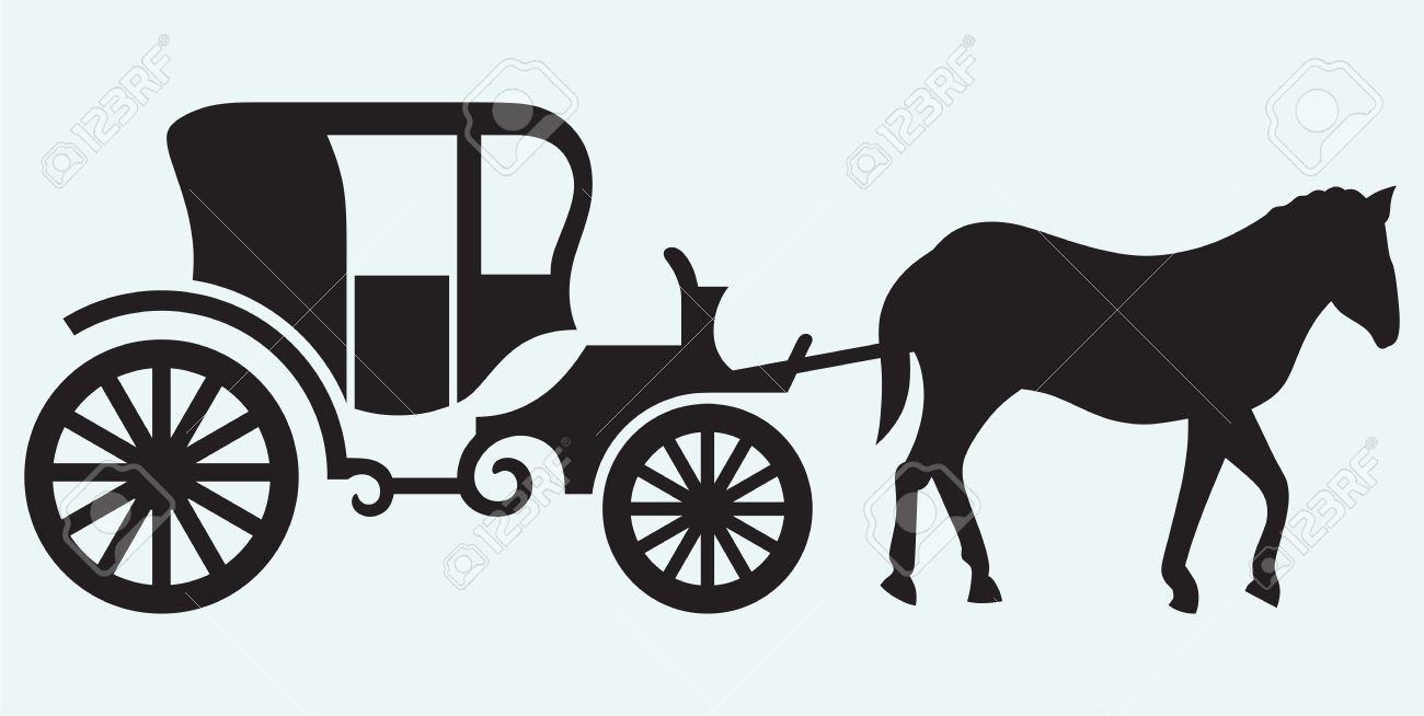 Vintage Carriage And Horse.
