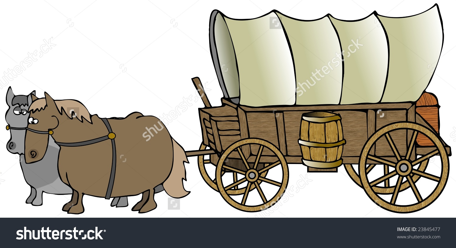 Showing post & media for Horse pulling covered wagon cartoons.