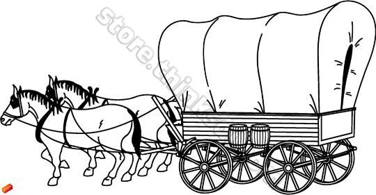 Horse And Covered Wagon Clipart (73+).