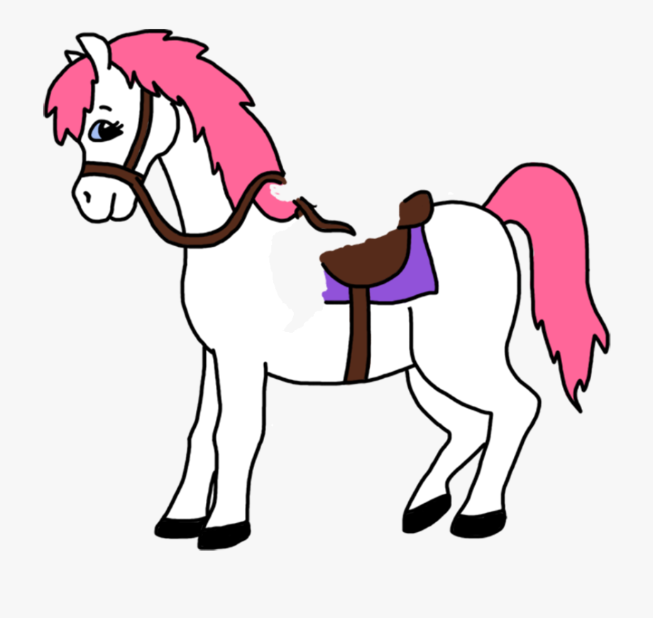 Girl Riding Horse Clipart.
