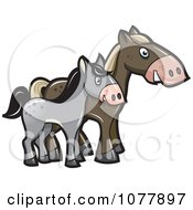 Horse And Pony Clipart.