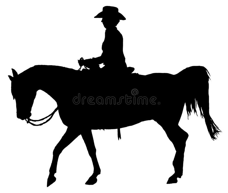 Horse Rider Silhouette Stock Illustrations.