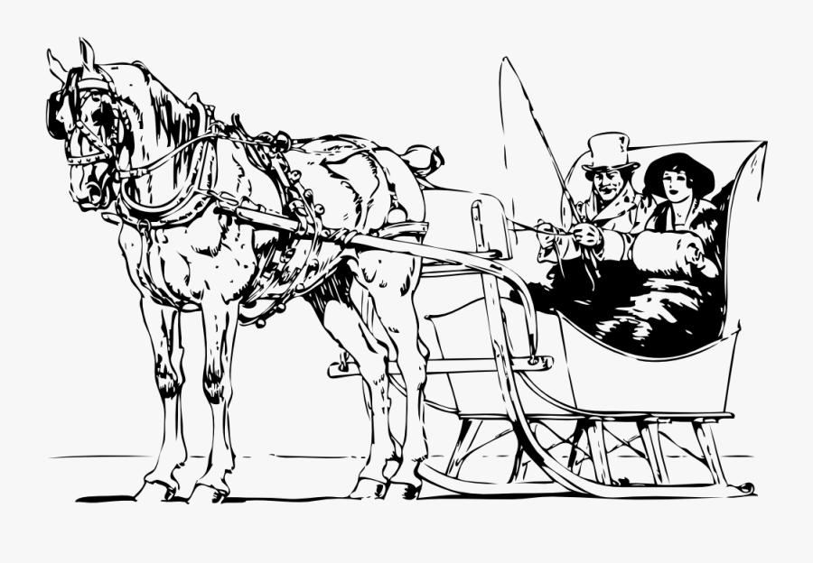 Horse Drawn Sleigh Clip Art , Free Transparent Clipart.