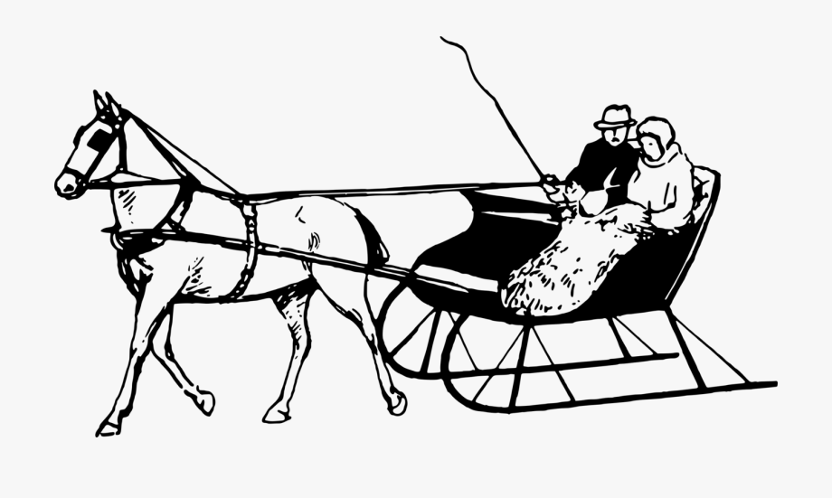 Horse And Sleigh Drawing, Cliparts & Cartoons.