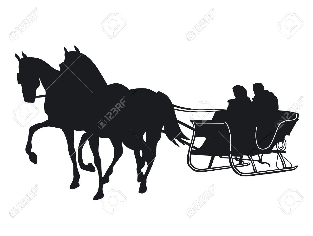 403 Horse Sleigh Stock Vector Illustration And Royalty Free Horse.
