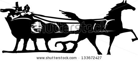Horse Sleigh Stock Images, Royalty.