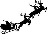 Santa's Sleigh Clipart, Santa's Sleigh, Santa's Sleigh Image.