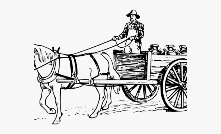 Carriage Clipart Horse Wagon.