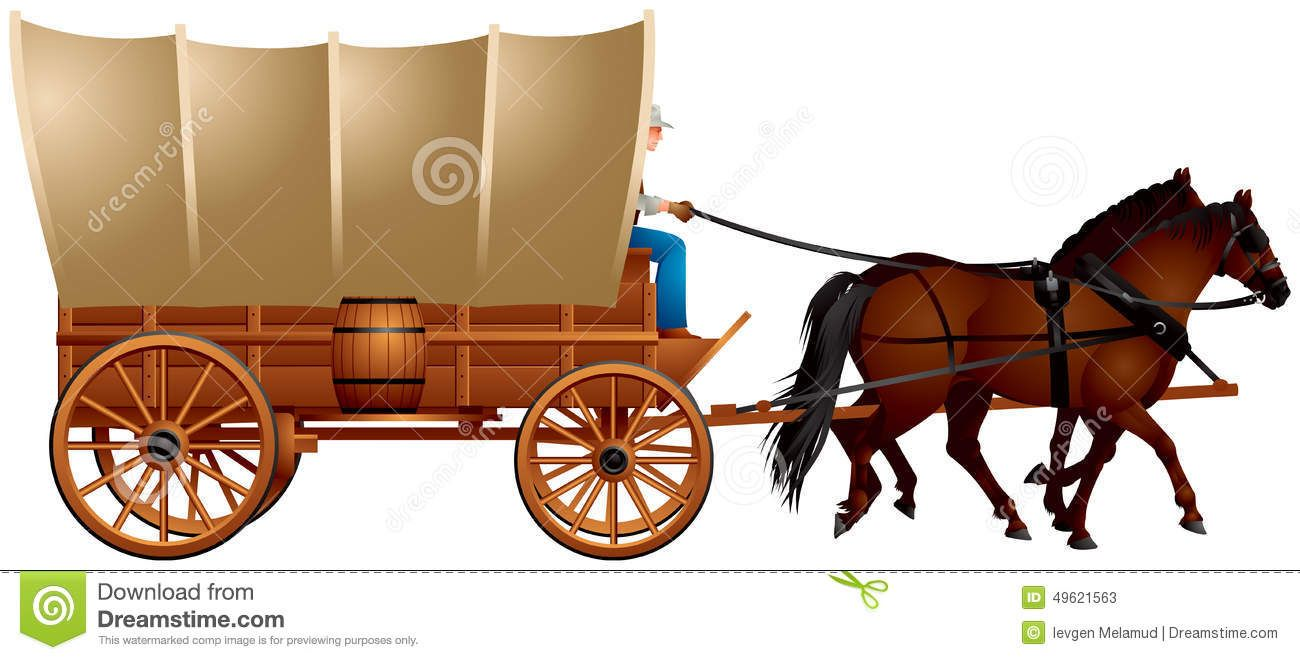 Wild West clipart covered wagon #2.