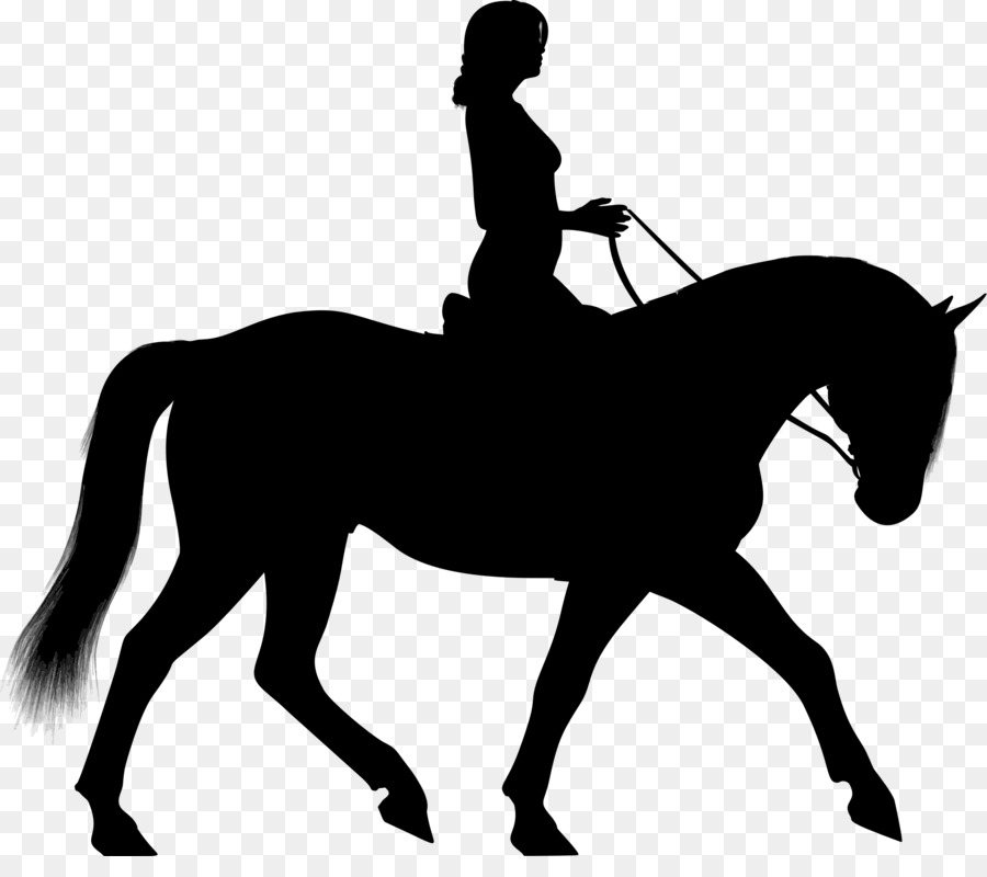Horse Equestrian Silhouette Clip Art.