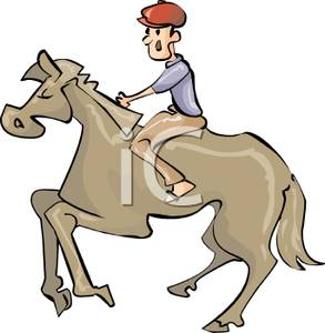Man On A Horse Clipart.