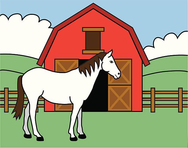 Best Horse Barn Illustrations, Royalty.