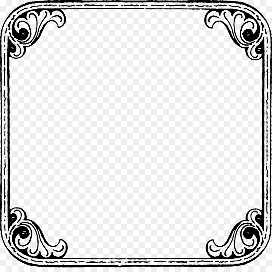 Border Design Black And White clipart.
