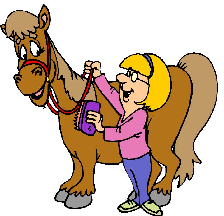 Clipart horse brush box.