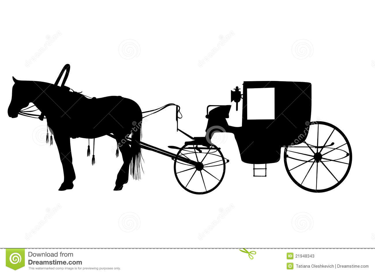 Horse Carriage Silhouette Stock Photos, Images, & Pictures.