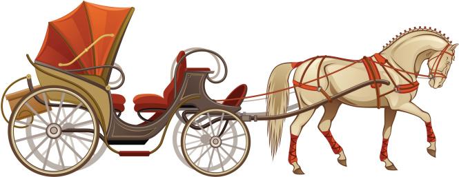 Horse cart clipart.