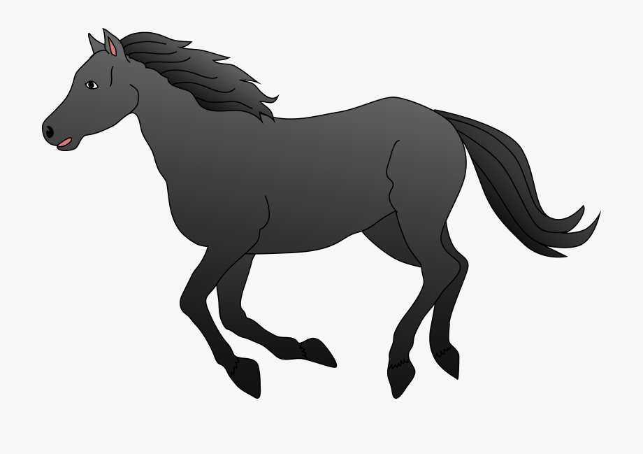 Black Horse Clipart , Transparent Cartoon, Free Cliparts.