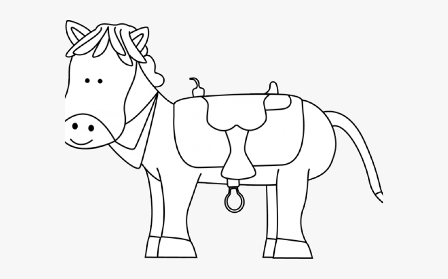 Black And White Western Horse Clipart , Free Transparent.