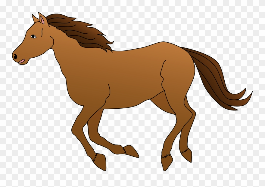 Brown Horse Galloping Clipart Free Clip Art.