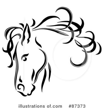 Horse Clip Art Black And White.