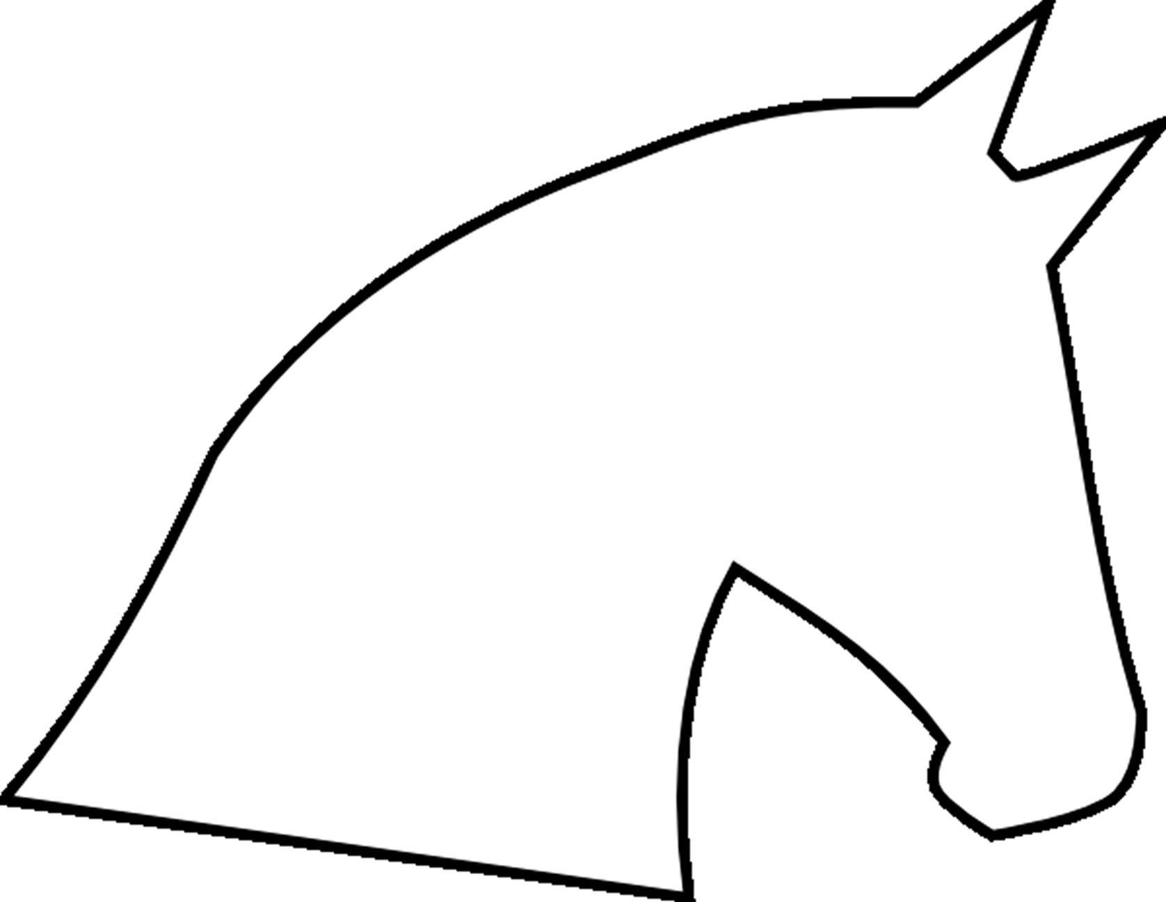 Free Printable Horse Head Stencils.