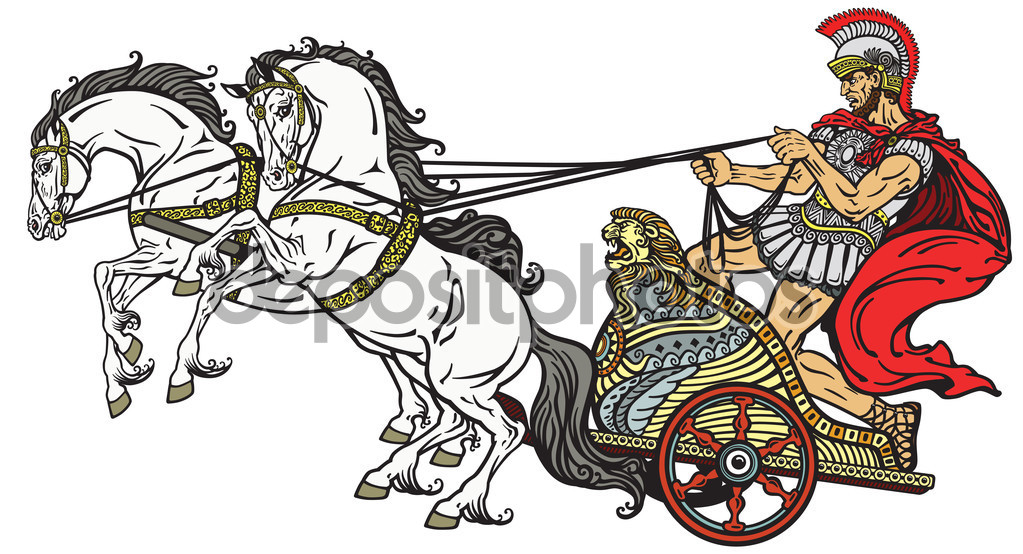 Roman war chariot — Stock Vector © insima #88549254.