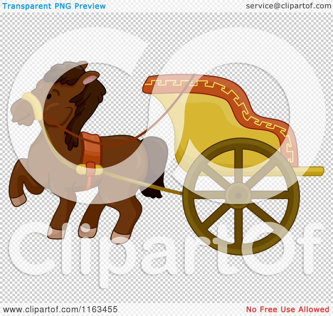 Cartoon of an Ancient Horse Drawn Chariot.