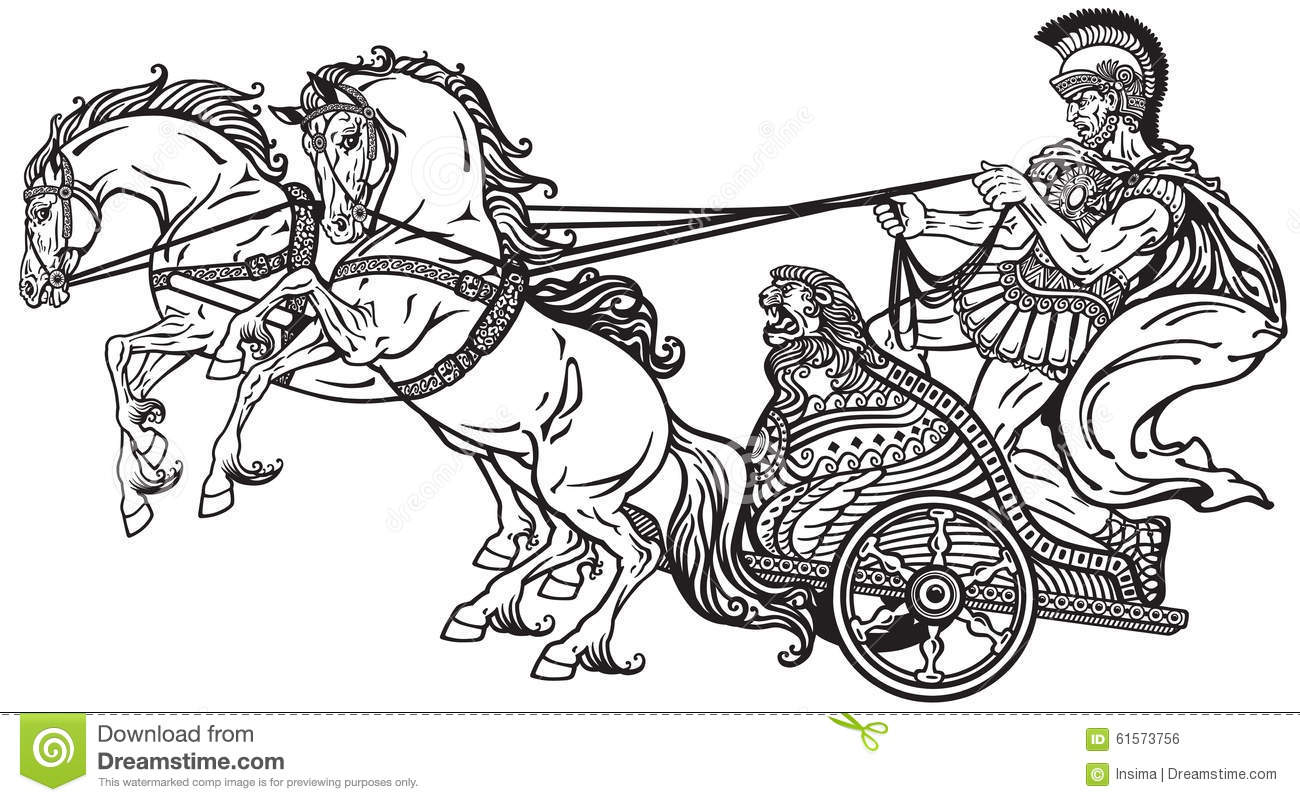 Horse Dran War Chariot Clipart Clipground