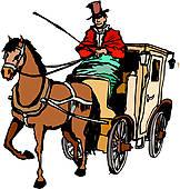 Horse Drawn Carriage Clip Art.