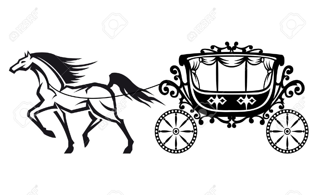 Horse drawn carriage clipart - Clipground