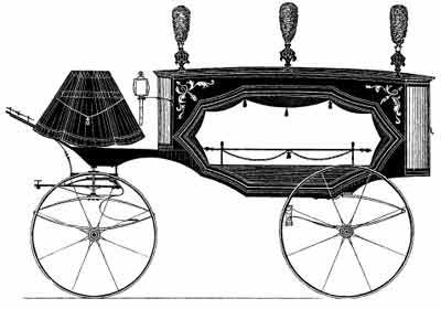 1871 Geissel Horse Drawn Hearse.