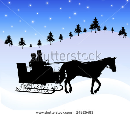 Horse Sleigh Stock Photos, Royalty.