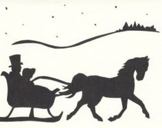 Horse And Sleigh Clipart.